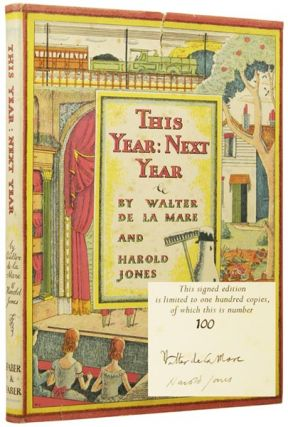 This Year: Next Year. Walter DE LA MARE, Harold JONES