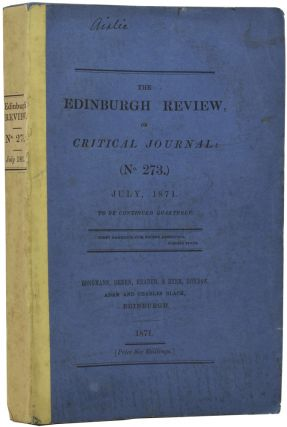 Review of The Descent of Man and Selection in Relation to Sex in] The Edinburgh Review, or...