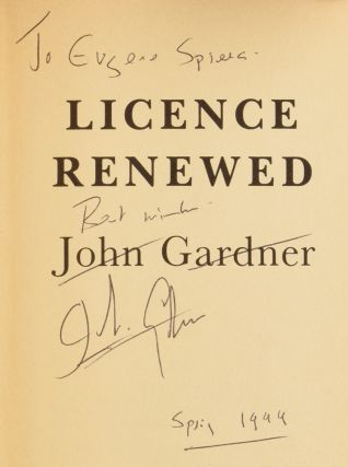 Licence Renewed. James Bond 007. Ian FLEMING, John GARDNER
