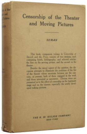 Selected Articles on Censorship of the Theater and Moving Pictures. The Handbook Series III,...