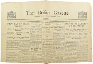 The British Gazette. Winston Spencer CHURCHILL, Sir
