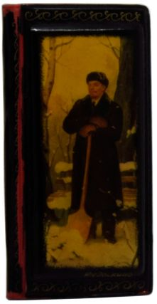 Enamelled Russian Address Book featuring a Winter portrait of Lenin]. ANONYMOUS