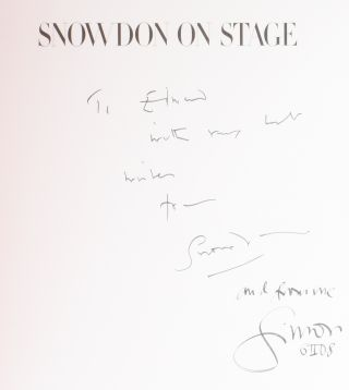 Snowdon on Stage. With a Personal View of the British Theatre 1954-1996.