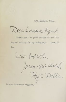 An Important Collection of Winston Churchill/World War II autographs.