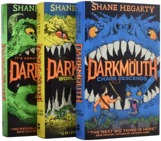Darkmouth, Darkmouth Worlds Explode, [and] Darkmouth Chaos Descends. Shane HEGARTY, James DE LA RUE