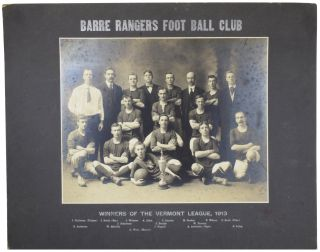 [Photographs of Barre Rangers Foot Ball Club, United States Football Association, 1913].