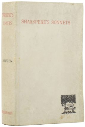 The Sonnets of Shakspere. William SHAKSPERE, Edward DOWDEN