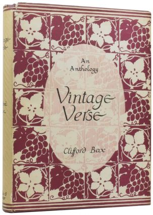 Vintage Verse. An Anthology of Poetry in English. Clifford BAX, compiler