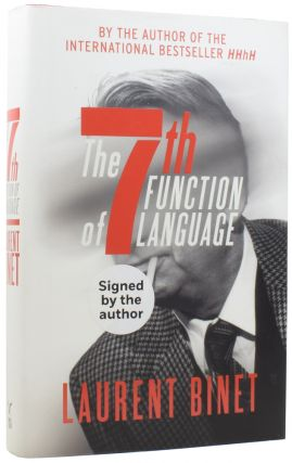 The 7th Function of Language. Laurent BINET, 1972, Sam TAYLOR