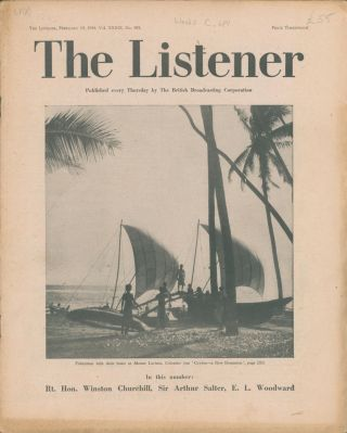 The Listener. Vol. XXXIX No.995. Winston CHURCHILL