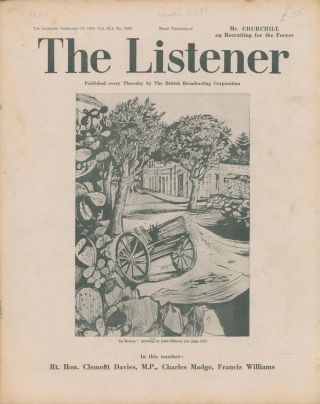 The Listener. Vol. XLI No.1047. Winston CHURCHILL