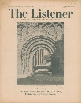 The Listener. Vol. XLIII No.1096. Winston CHURCHILL