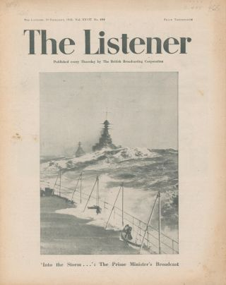 The Listener. Vol. XXVII No.684. Winston CHURCHILL, Edmund BLUNDEN