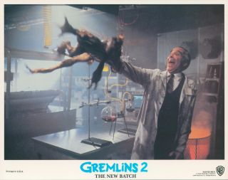 Gremlins 2: The New Batch [LOBBY CARDS]. Charles S. HAAS, writer, Joe DANTE, director, Michael...