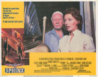 Sphinx [LOBBY CARDS]. John BYRUM, writer, Franklin J. SCHAFFNER, director, Stanley O'TOOLE,...