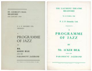 A Programme of Jazz by Mr. Acker Bilk and His Paramount Jazzband [Concert Programmes]. St....