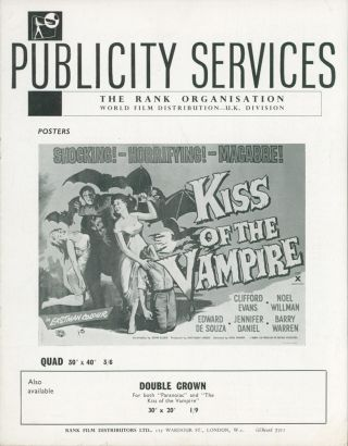 Kiss of the Vampire — Publicity Services [Film Campaign Brochure]. ANONYMOUS