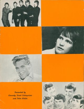 """Starlight Rendezvous 1961; Bernie Clifton in the Bernie Clifton Show 1977; Startime at the King's Theatre, Edinburgh 1968; The Bachelors in Holiday Startime 1965; The Helen Shapiro Show 1963; The Four Pennies Show; """"Once Upon a Fairy Tale"""" 1965; The Bachelors Show 1963; Herman's Hermits Show 1965; Good Timing 1960; The Brian Hyland and Little Eva Show 1963; An Evening with Engelbert Humperdinck 1967 [Souvenir Programmes]."""