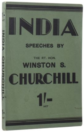 India. Speeches and An Introduction.