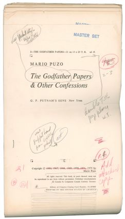 The Godfather Papers, and Other Confessions [Author's Master Galley Proof].