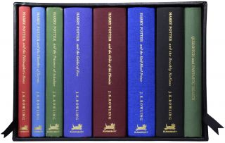 Harry Potter Series, Complete Deluxe Set, each with added colour illustration. J. K. ROWLING,...